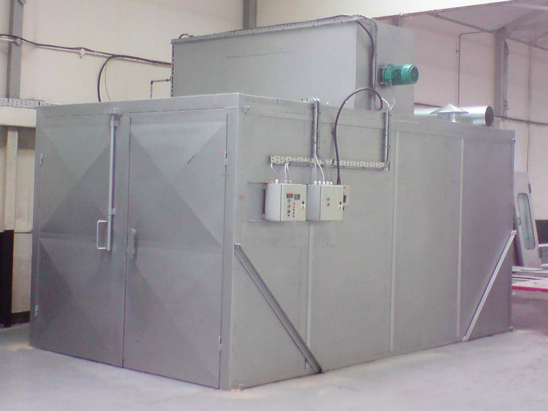 Gas powered industrial curing oven