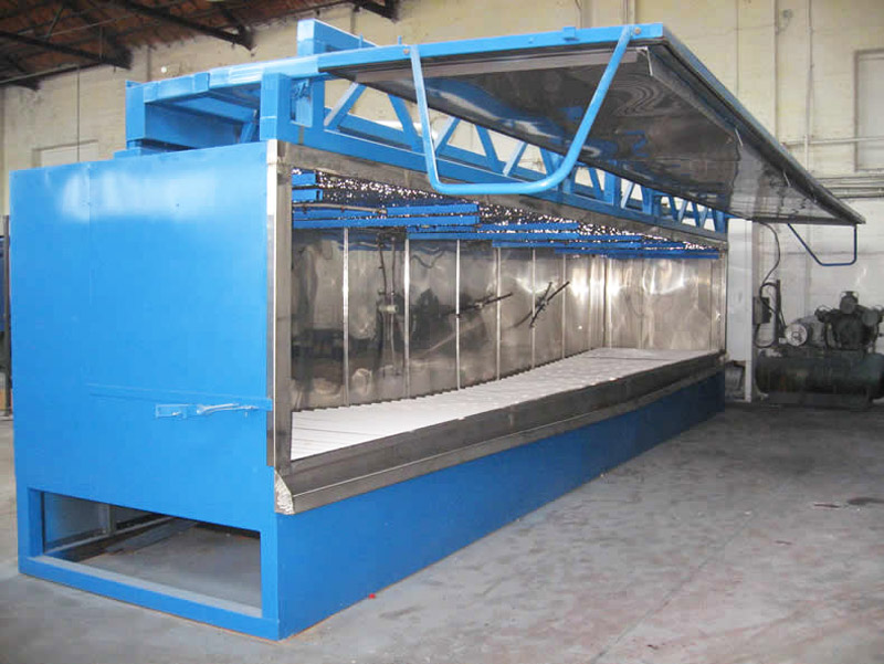 Powder coating pre-treatment machine