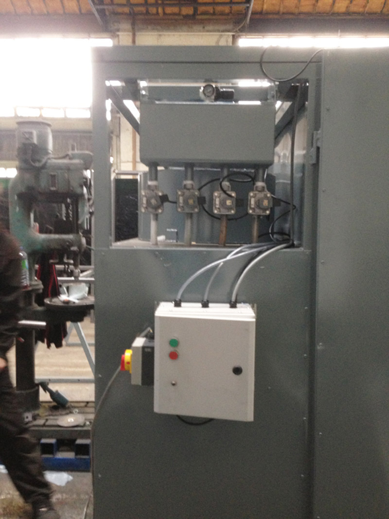 Spray booth control unit
