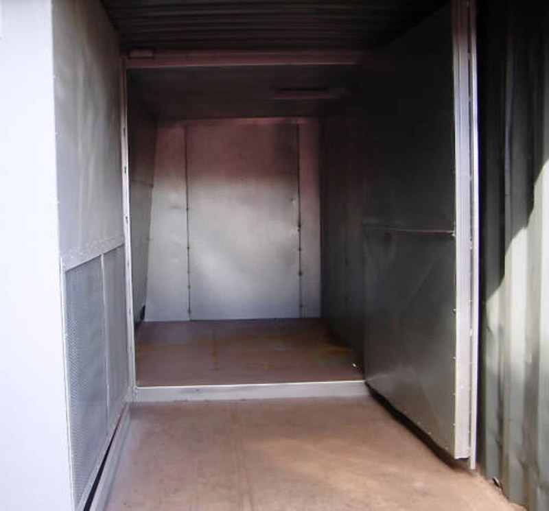 Containerised curing oven