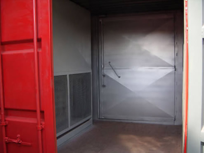 Containerised powder coating plant