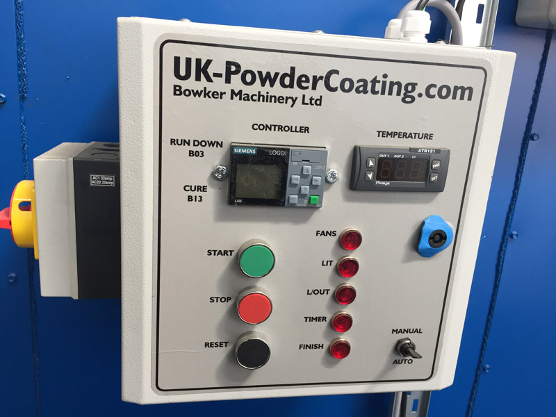 compact curing oven control panel